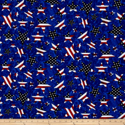 American Pride Stars Multi/Royal Fabric
