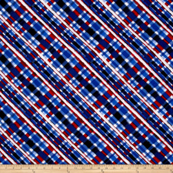 American Pride Bias Plaid Red/White/Blue Fabric