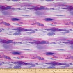 Mountain View Digital Skies Lavender Fabric
