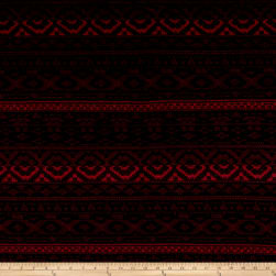 Kashmir Hatchi Sweater Knit Stripe Black/Garnet