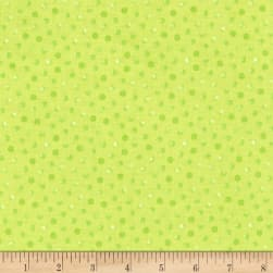 Painted Wings Dot Lime Fabric
