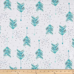 Shannon Embrace Double Gauze Aim High Teal Fabric
