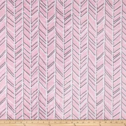 Shannon Studio Minky Cuddle Herringbone Blush/Graphite Fabric