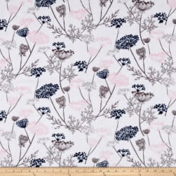 Shannon Minky Cuddle Queen Anne's Lace Blush Fabric