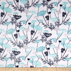 Shannon Studio Minky Cuddle Queen Anne's Lace Teal