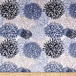 Shannon Premier Prints Minky Cuddle Blooms Blue Fabric