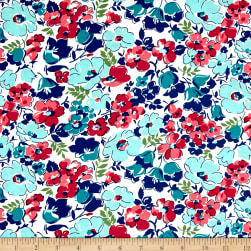 Hello Jane Packed Floral Red Fabric