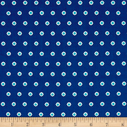 Hello Jane Flower Dot Navy Fabric