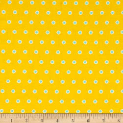Hello Jane Flower Dot Yellow Fabric