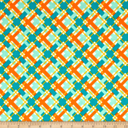 Hello Jane Plaid Orange Fabric
