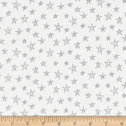 Notepad Stars White/Grey Fabric