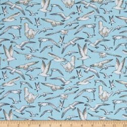 High Tide Seagulls Aqua