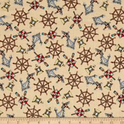 High Tide Nautical Sand Fabric
