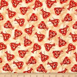 High Tide Lobsters Sand Fabric