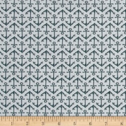 High Tide Anchors Grey Fabric