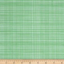 Hand Picked Organic Grid Green Fabric