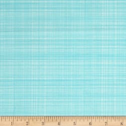 Hand Picked Organic Grid Aqua Fabric