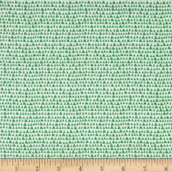Hand Picked Organic Triangles Green Fabric