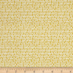 Hand Picked Organic Triangles Chartreuse Fabric