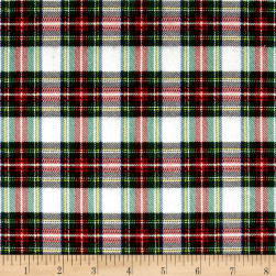 Mad for Plaid Flannel Mini Stewart Plaid White Fabric