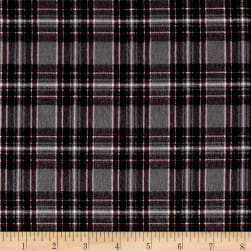 Mad for Plaid Flannel Mini Stewart Plaid Grey Fabric