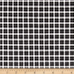 Mad for Plaid Flannel Mini Check White Fabric