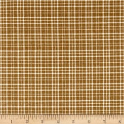 Mad for Plaid Flannel Mono Plaid Camel Fabric