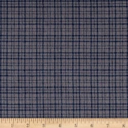 Mad for Plaid Flannel Mono Plaid Grey Fabric