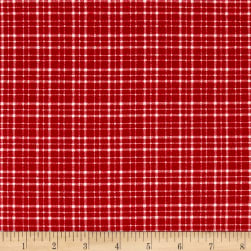 Mad for Plaid Flannel Mono Plaid Red Fabric