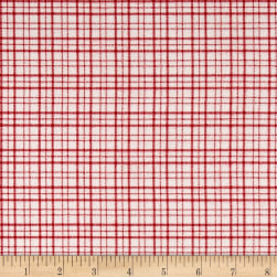 Mad for Plaid Flannel Mono Plaid White/Red
