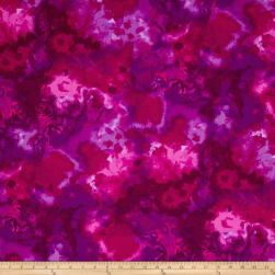 Mariposa Meadow Watercolor Fuchsia/Purple