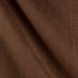 P/Kaufmann Slubby 100% Linen Coffee Fabric