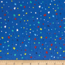 Aliens In Space Stars Royal Fabric