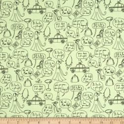 Girls Night Out Girl Talk Celadon Fabric