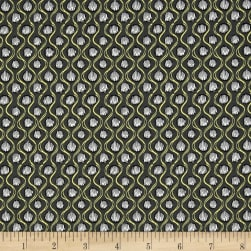 Girls Night Out Dot Charcoal Fabric