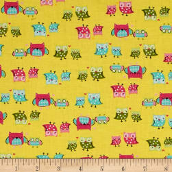 It's a Hoot Mother & Child Yellow Fabric