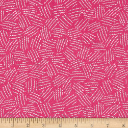 It's a Hoot Squiggles Pink Fabric