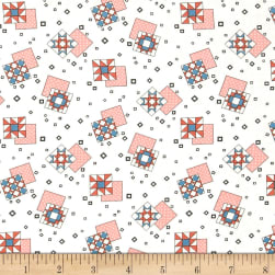 Sew Special Patches Coral Fabric