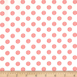 Sew Special Bobbins Coral Fabric