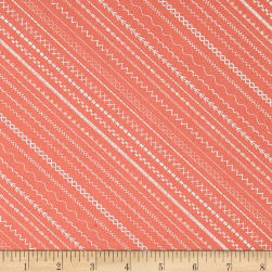 Sew Special Stitches Coral Fabric