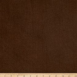Measure Wavy Grid Brown Fabric