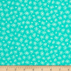 Going Steady Fanciful Floral Mint Fabric