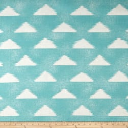 Premier Prints Zoltan Basketweave Cyan Belgian Fabric