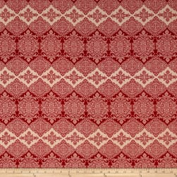 Rayon Crepe Bohemian Print Red/Tan Fabric