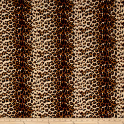 Rayon Crepe Cheetah Print Natural/Black