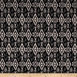 Techno Scuba Knit Ikat Black/Ivory Fabric
