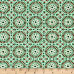 Moda Berry Merry Tile Mint Fabric