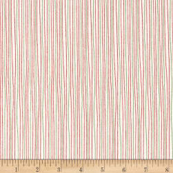 Moda Red Dot Green Dash Brushed Cottons Holiday Stripe Multi