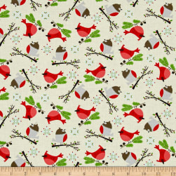 Moda Jingle Birds Bird Friends Cream