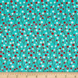 Moda Jingle Birds Berries Bluebird